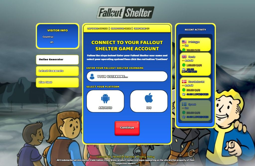 Fallout Shelter Hack Screenshot